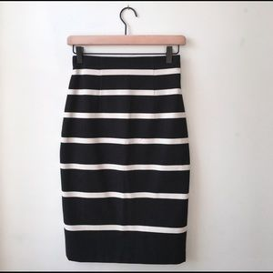 Banana Republic Skirts - NWT Banana Republic Striped Sloan Pencil Skirt 0